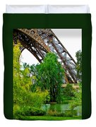 Eiffel Tower Garden Duvet Cover