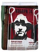 Elections 1974. Belgrade. Serbia Duvet Cover