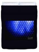 Electric Blue Circle Bumps Duvet Cover