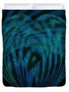 Electric Blue Heart Duvet Cover