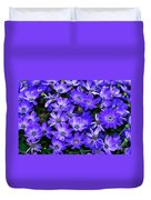 Electric Indigo Garden Duvet Cover