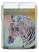 Electric Zebra Duvet Cover