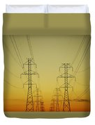 Electricity Pylons Duvet Cover