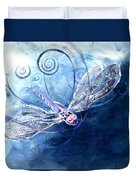 Electrified Dragonfly Duvet Cover