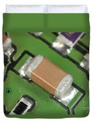 Electronics Board With Lead Solder Duvet Cover