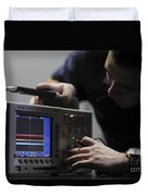Electronics Technician Troubleshoots An Duvet Cover