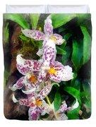Elegant Beallara Orchid Duvet Cover