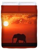 Elephant Silhouette Duvet Cover