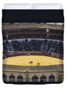 Elevated View Of Bullring Duvet Cover by Axiom Photographic
