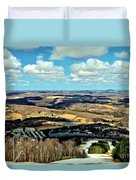 Elk Mountain Ski Resort Duvet Cover
