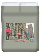 Ellicott Square Building And Hsbc Duvet Cover