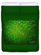Emerald Coral Duvet Cover