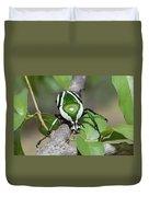 Emerald Fruit Chafer Beetle Duvet Cover