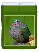 Emerald Ground Dove Duvet Cover