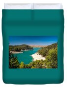 Emerald Lake. El Chorro. Spain Duvet Cover