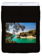 Emerald Lake With Duke House. El Chorro. Spain Duvet Cover