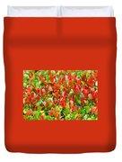 Emerging Red Duvet Cover