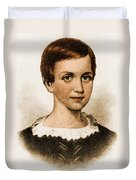 Emily Dickinson, American Poet Duvet Cover by Photo Researchers