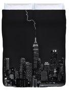 Empire State Building Lightning Strike II Duvet Cover