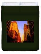 Empire State Building Sunset Duvet Cover