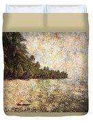 Empty Tropical Beach 2 Duvet Cover