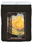 En Tarentaise - Vintage French Travel Duvet Cover