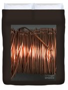 Enamel Coated Copper Wire Duvet Cover by Photo Researchers