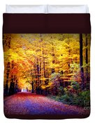 Enchanted Fall Forest Duvet Cover by Carol Groenen