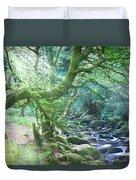 Enchanted Leprechaun Forest Duvet Cover
