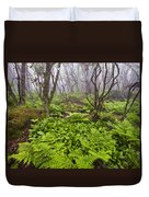 Enchanted Woodland Forest In Fog Blue Ridge Parkway In North Carolina Duvet Cover