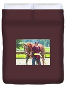 End Of The Race Duvet Cover