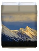 Endless Chain Ridge, Icefields Parkway Duvet Cover