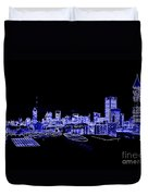 Energetic Atlanta Skyline - Digital Art Duvet Cover