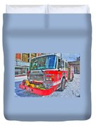 Engine 34 Readied Up Duvet Cover