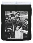 England: Women Strikers Duvet Cover