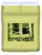English Countryside Window Duvet Cover