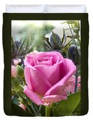 English Pink Rose Close Up Duvet Cover