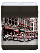 Enjoying The Grand Place Duvet Cover