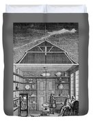 Enlightenment Lightning, 1766 Duvet Cover by Science Source