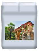 Entrance Arch With Flowers Duvet Cover