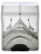 Entrance To Wat Suan Dok Duvet Cover