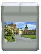 Entrance To Wilanow Palace - Warsaw Duvet Cover