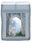 Entryway To St Cirq In The Fog Duvet Cover