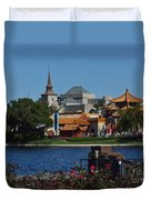 Epcot China And Norway Duvet Cover