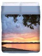Epic August Sunset Duvet Cover