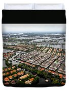 Erial View Of Flood Waters Affecting An Duvet Cover