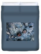 Eroded Rock With Dried Leaves Duvet Cover