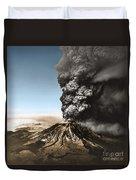 Eruption Of Mount St. Helens Duvet Cover