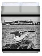 Escape From Alcatraz Duvet Cover