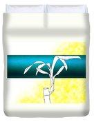 Essence Yellow Duvet Cover